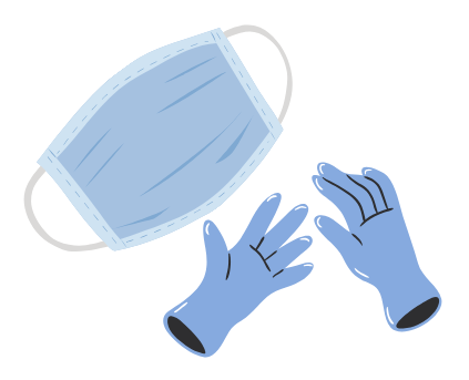 Use of masks and gloves